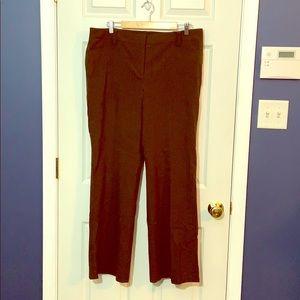 Nice Ann Taylor Brown Pinstripe Pants